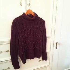 Vintage purple Pom Pom sweater s/m